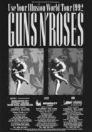 GN'R 92年UKツアーのフライヤー