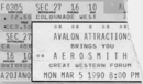 Aerosmith Ticket Inglewood 1990