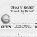 GN'R Sympathy For The Devil Us Promo Mc